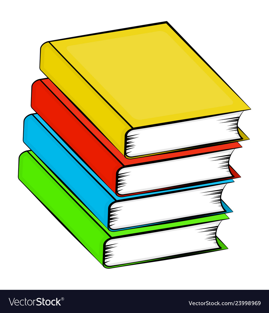 A Pile Books Cartoon Symbol Icon Design Royalty Free Vector
