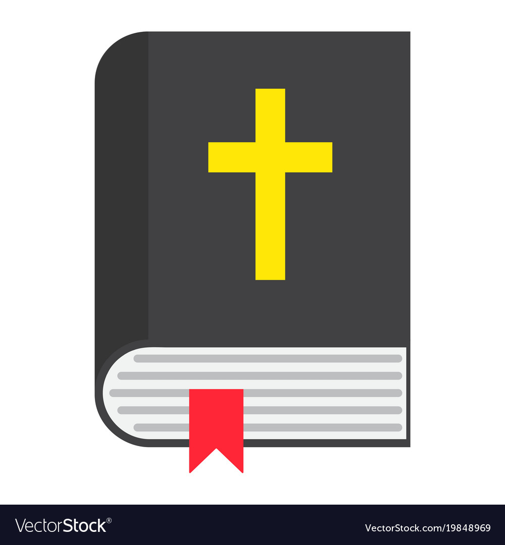 Bible flat icon easter and holiday book sign