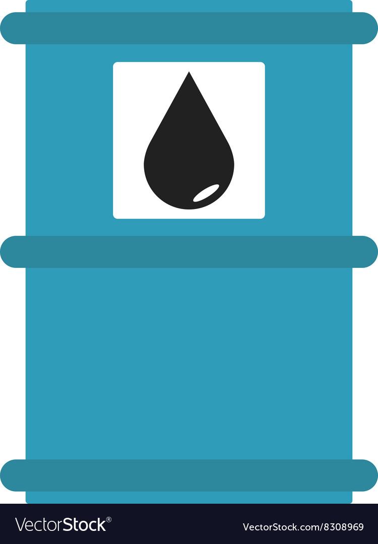 Blue metal oil tank barrel cartoon flat