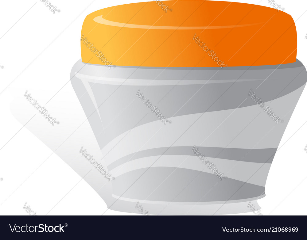 Cream Cosmetic Products On A White Background