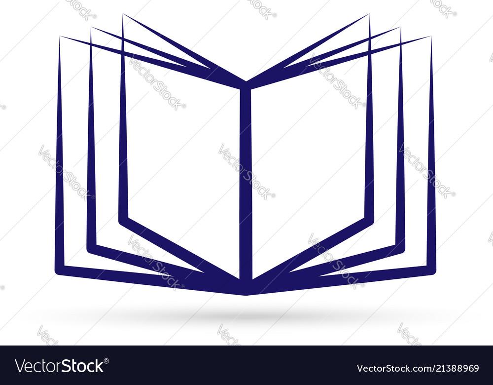 Knowledge book logo icon