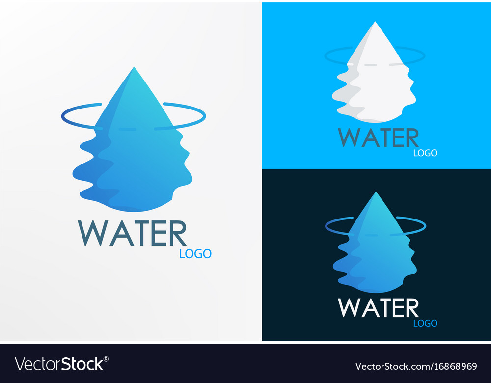 Logo water half wave