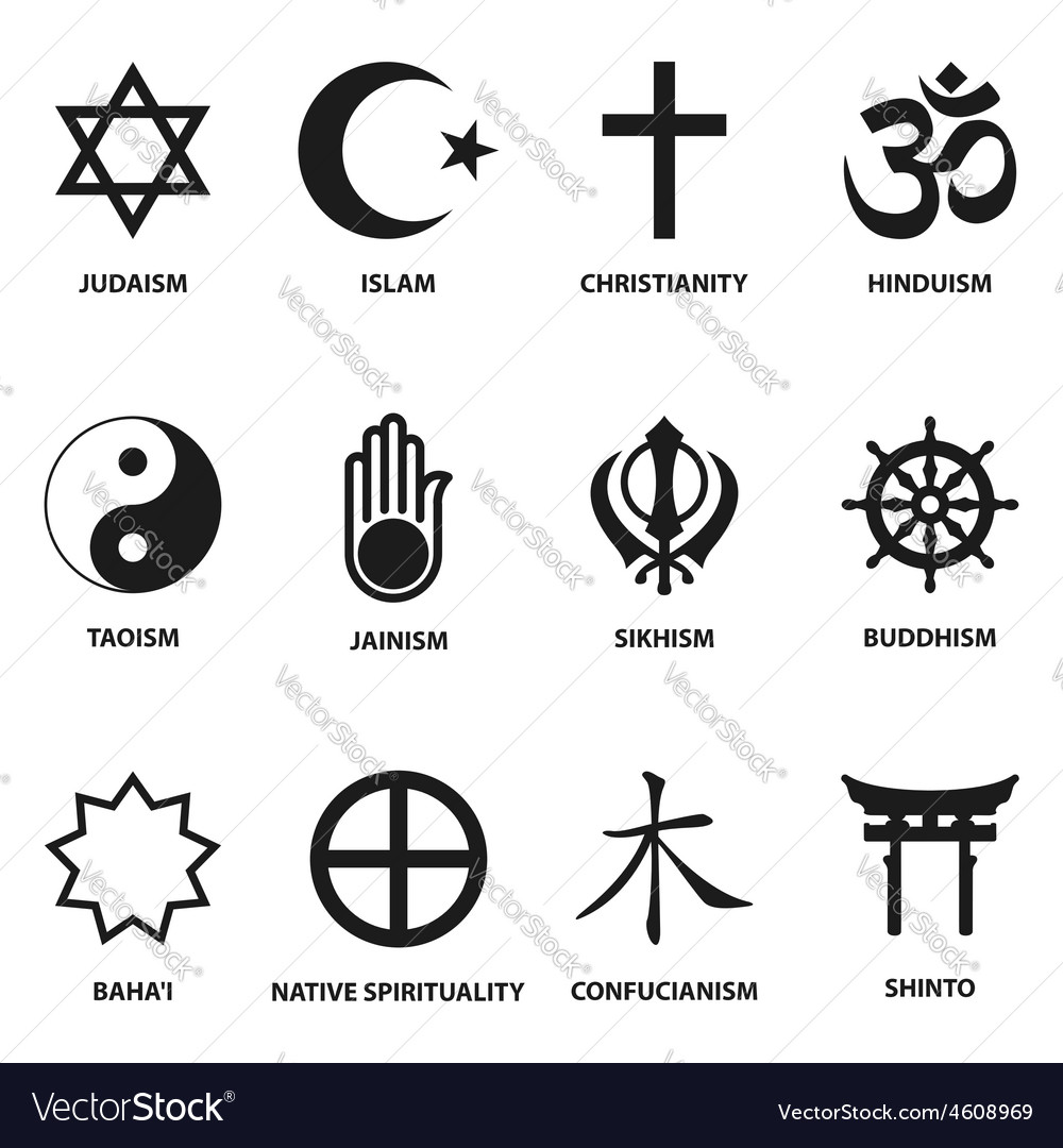 Religious Sign And Symbols Royalty Free Vector Image