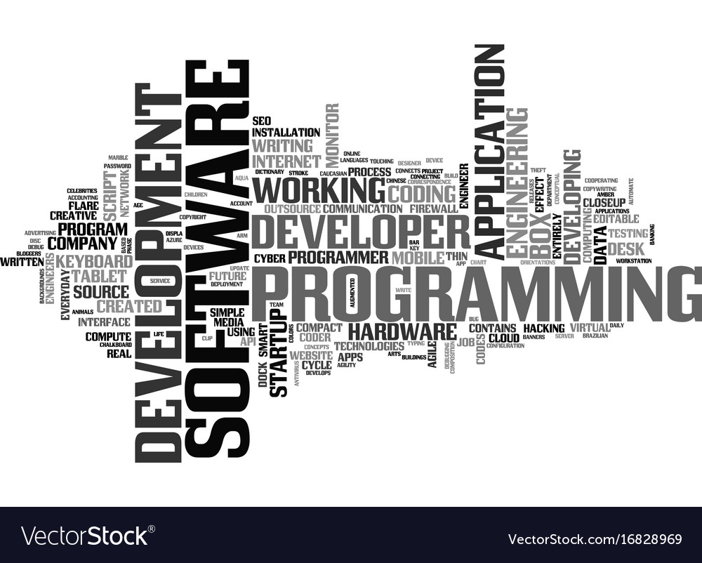 Software word cloud concept