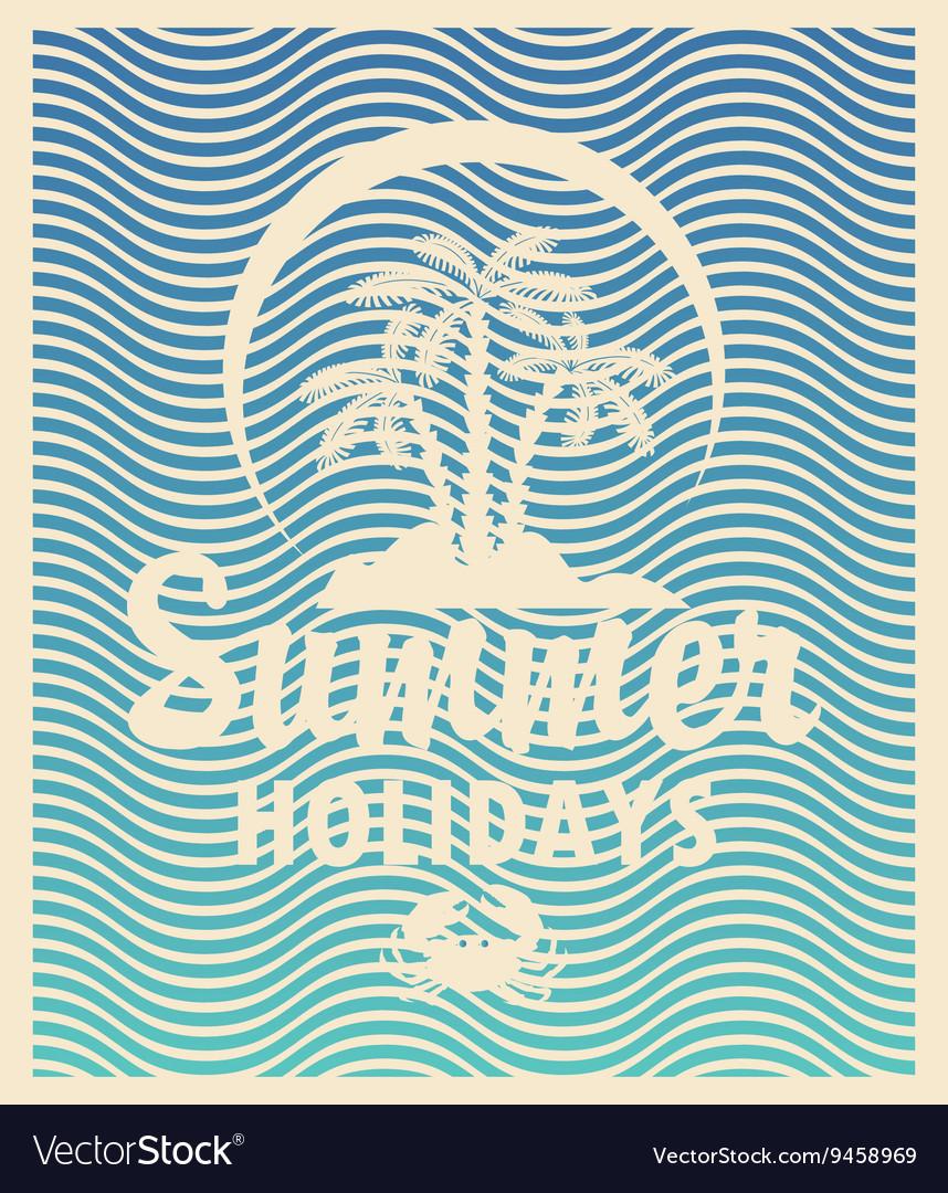 Tourism banner on a summer