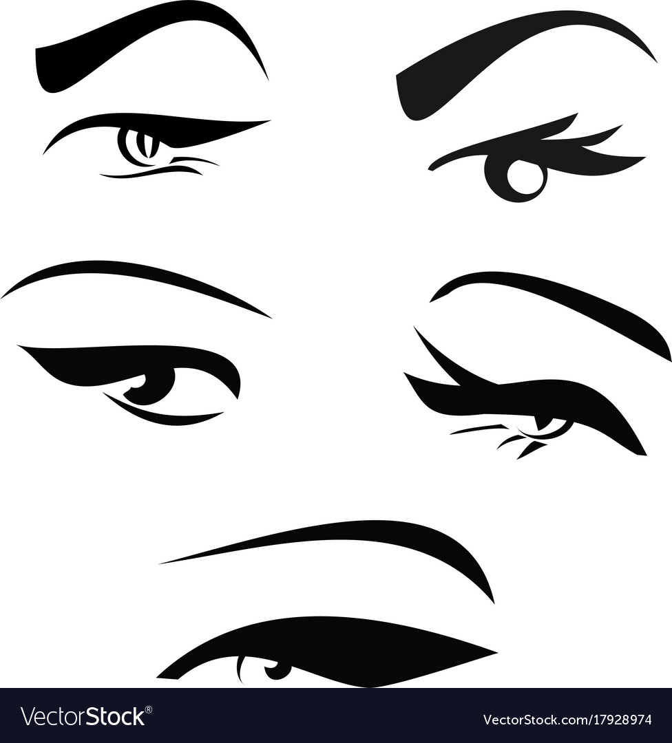 Beautiful girls eyes set