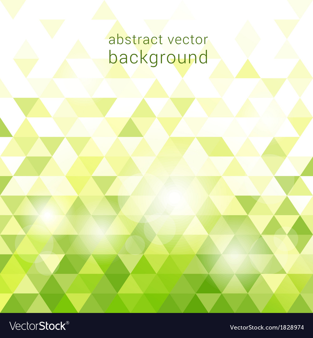 Green background with abstract geometric vector image