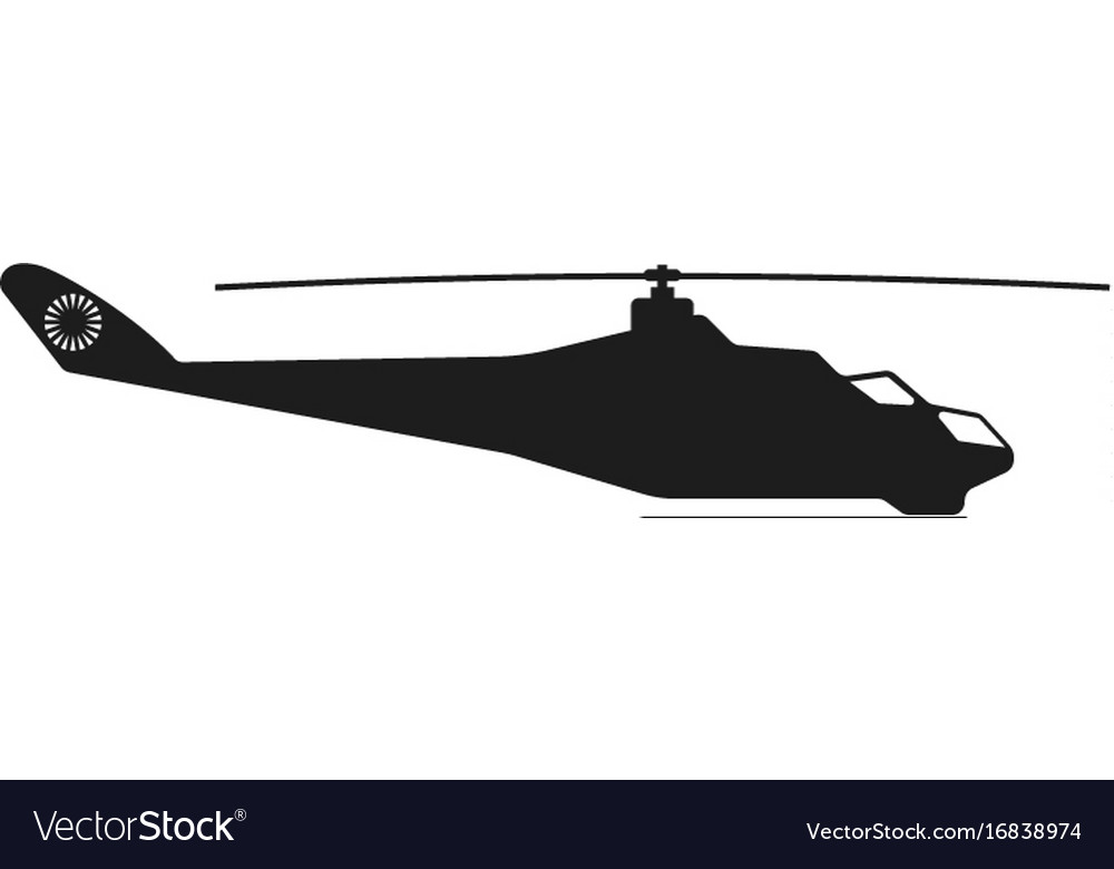 Helicopter sign black icon
