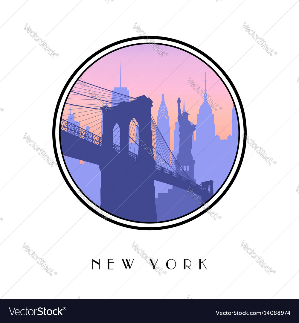 Icon new york city vector image