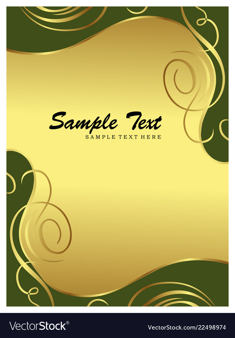 Invitation card abstract floral background