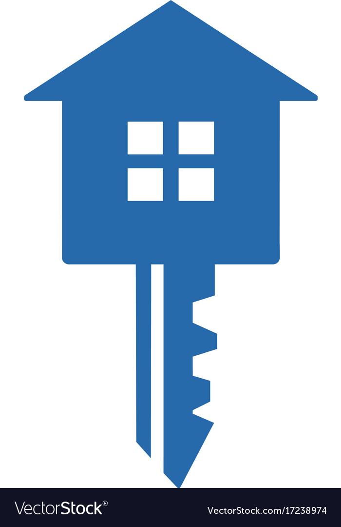 Key with house house key iconlogo icon design vector image