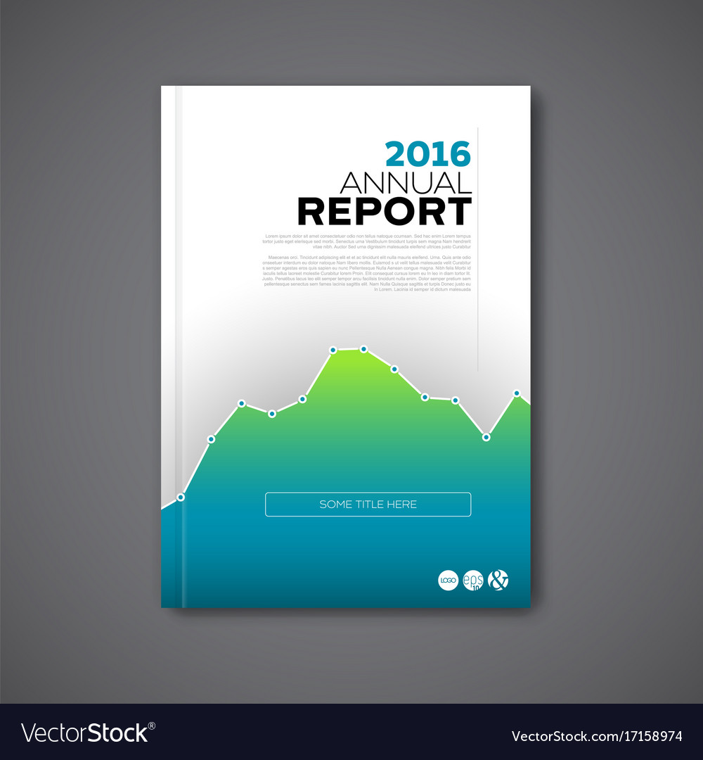 modern annual report design template royalty free vector