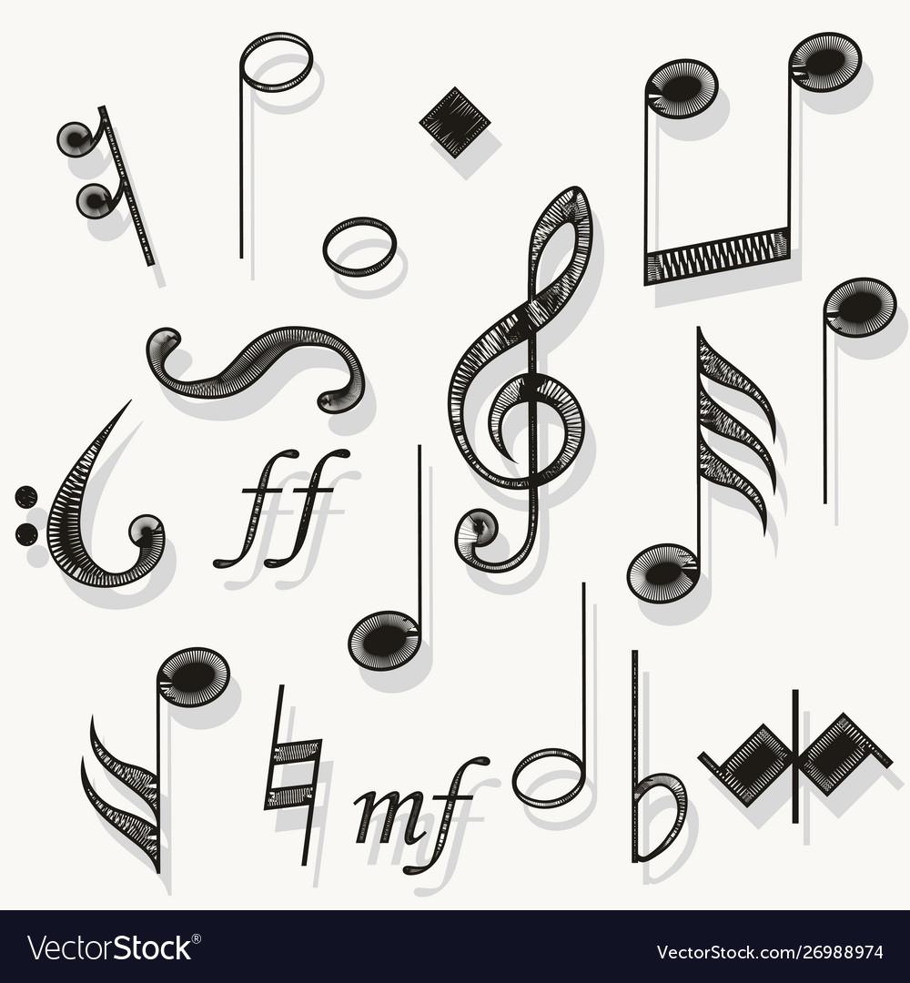 Music notes musical notation muzician staff
