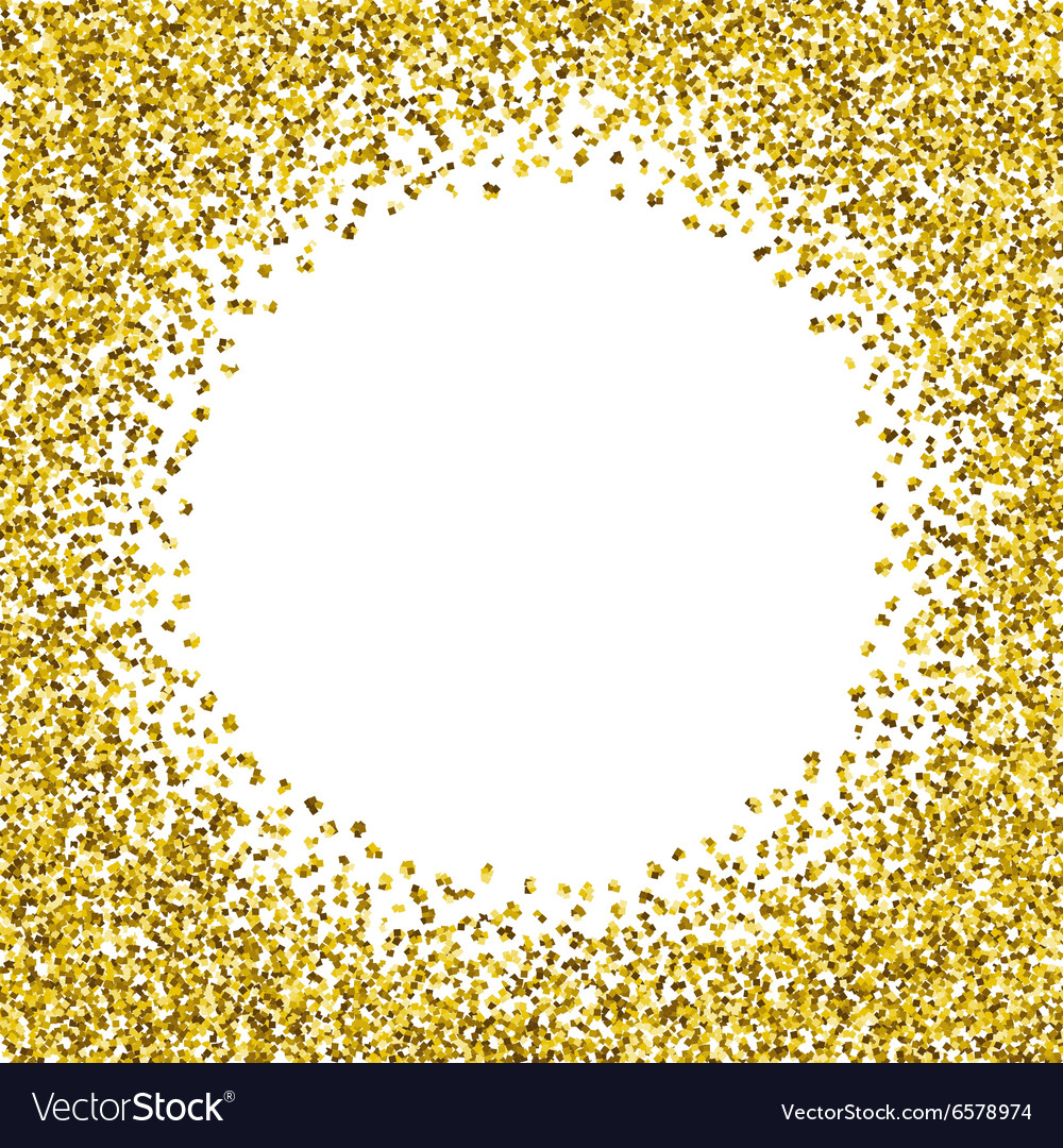 Round glitter gold frame Royalty Free Vector Image