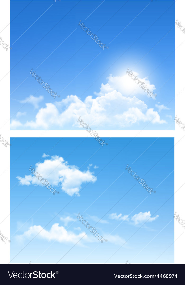 Set nature backgrounds with cloud and sky