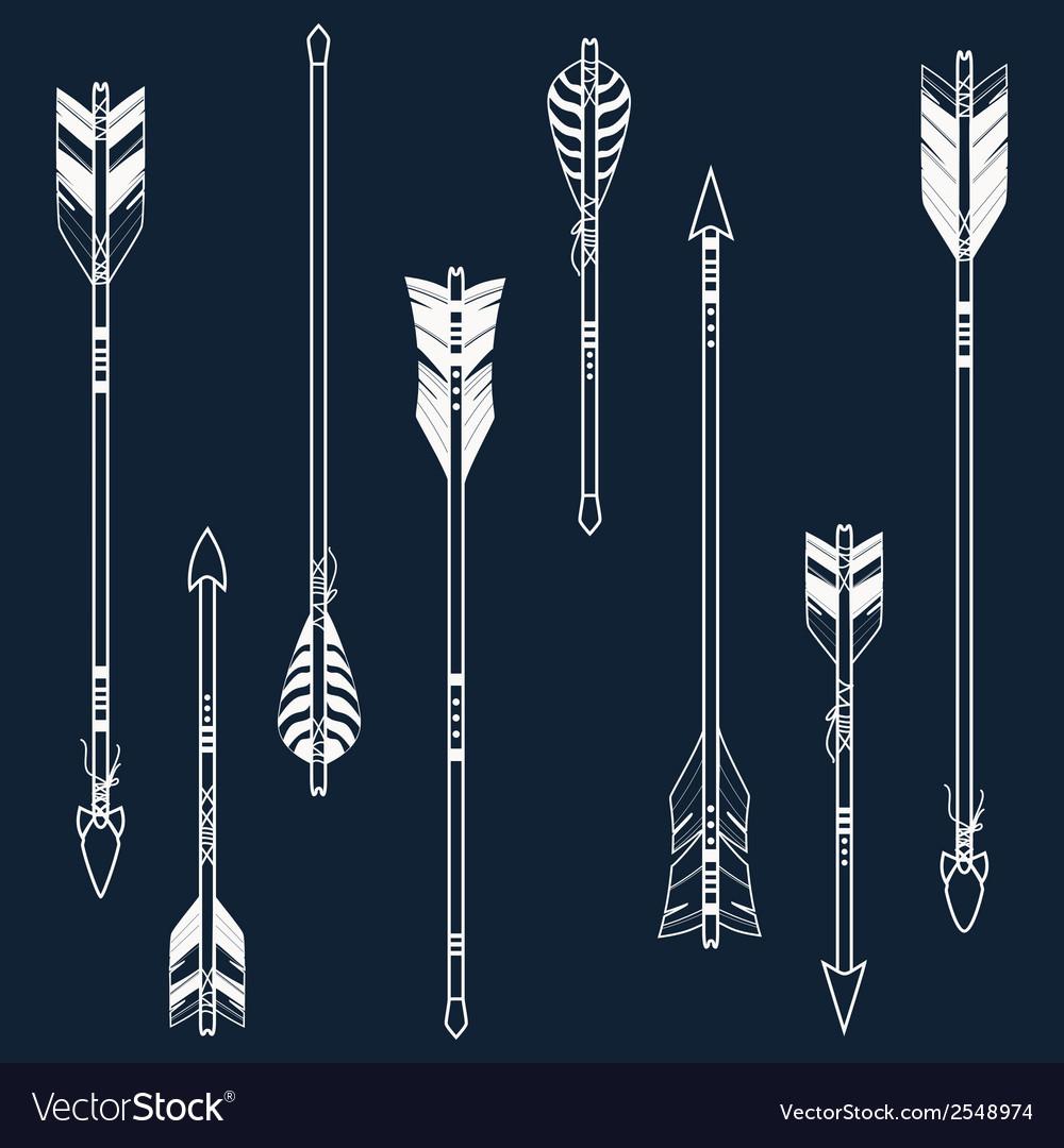 Set of ethnic arrows