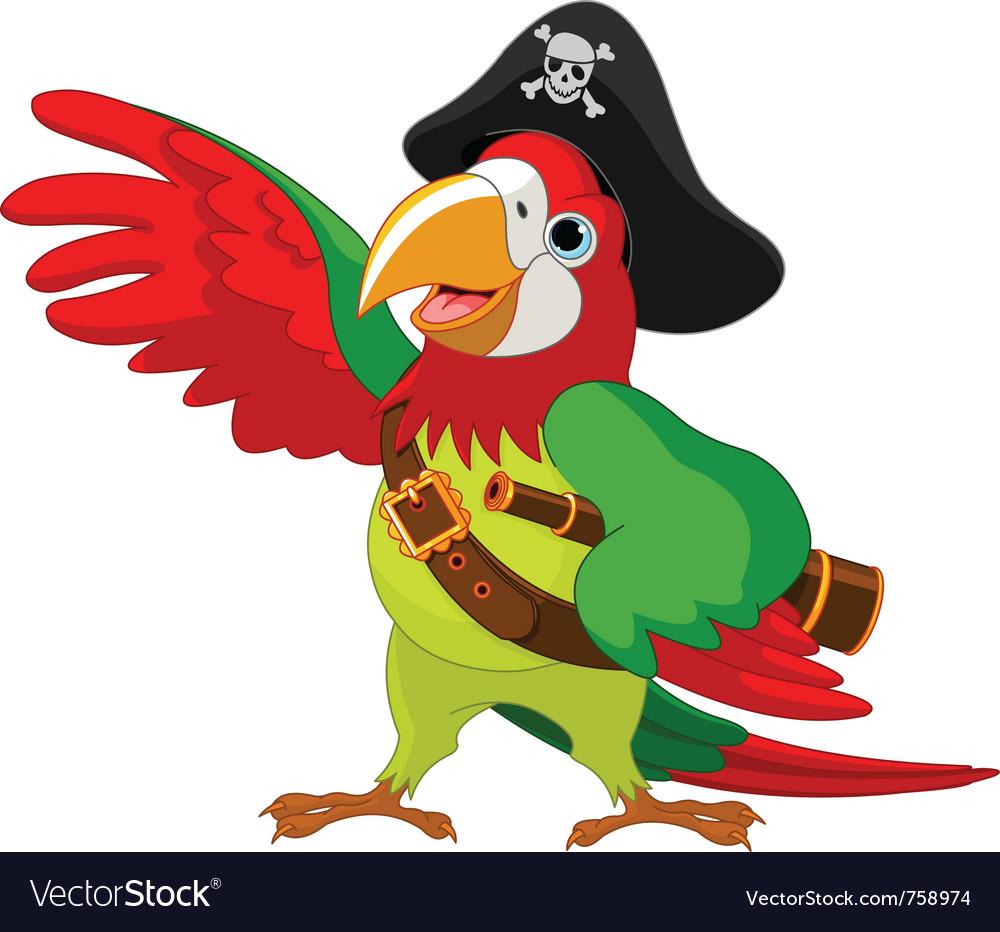 Talking pirate parrot