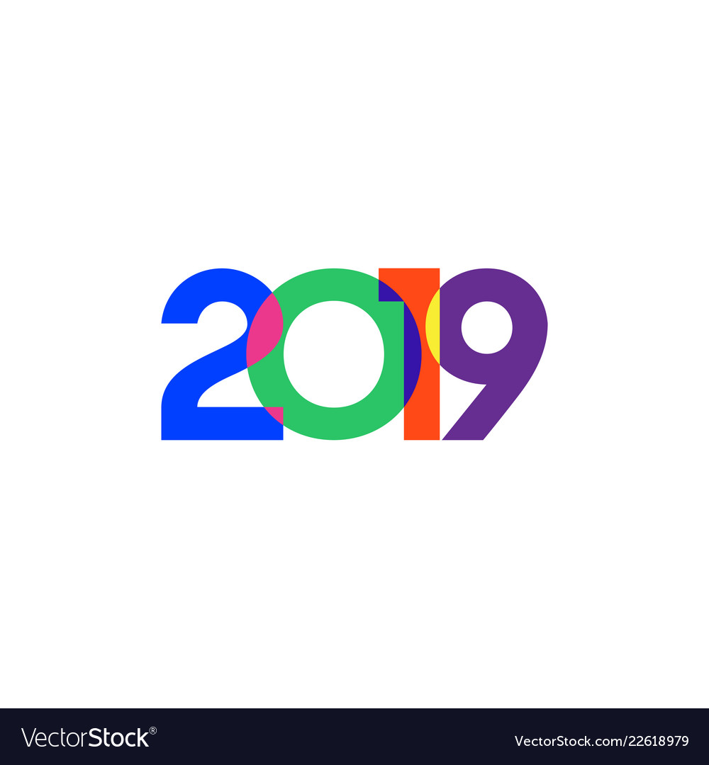 Abstract 2019 happy new year background