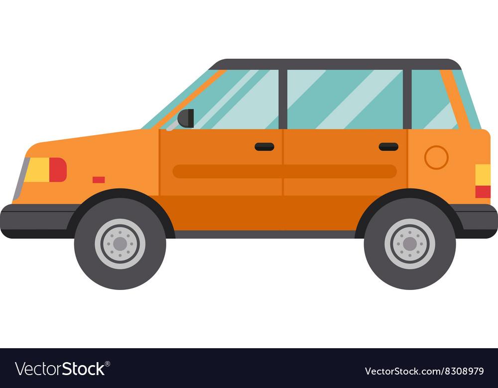 Cartoon Car Isolated on White Background flat