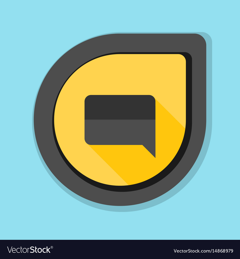 Chat mesage button vector image