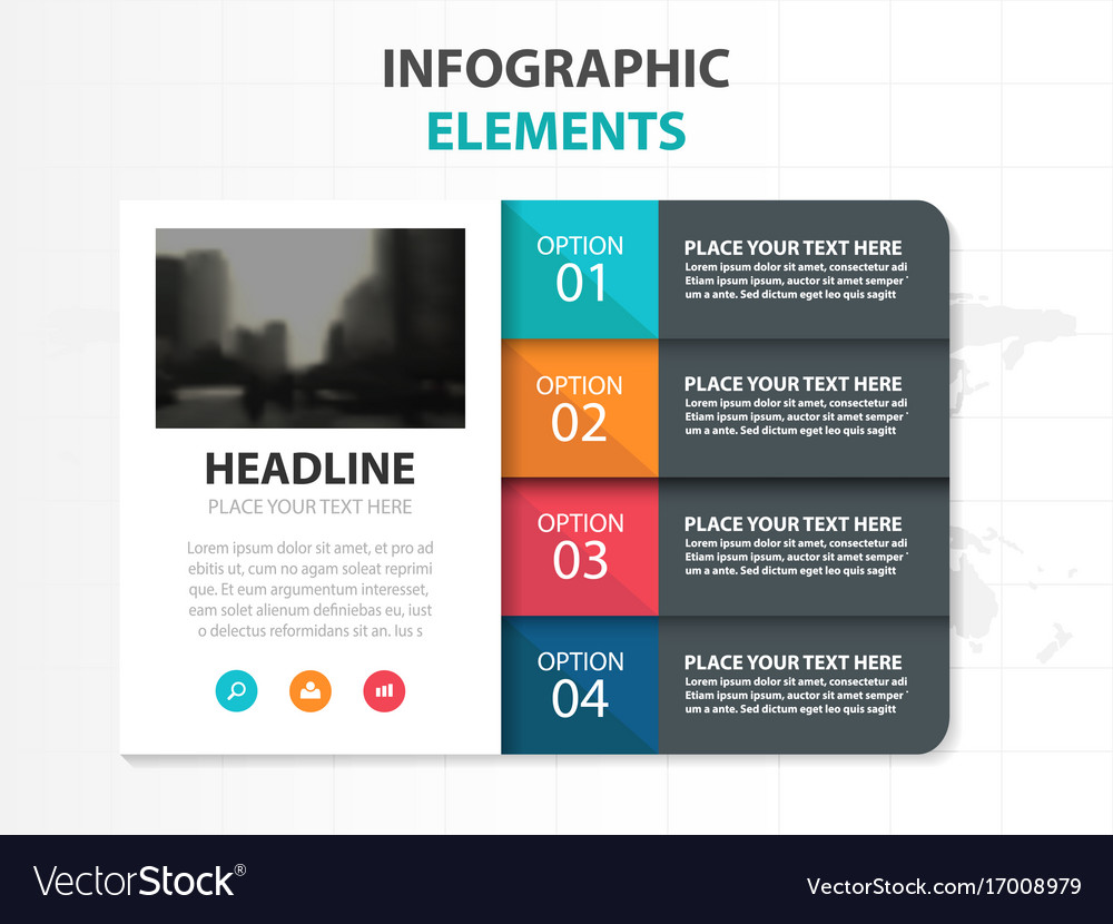 Colorful business folder infographics elements