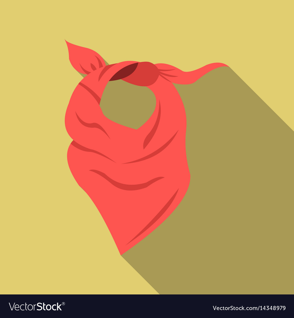 Cowboy scarf icon flate singe western icon from vector image