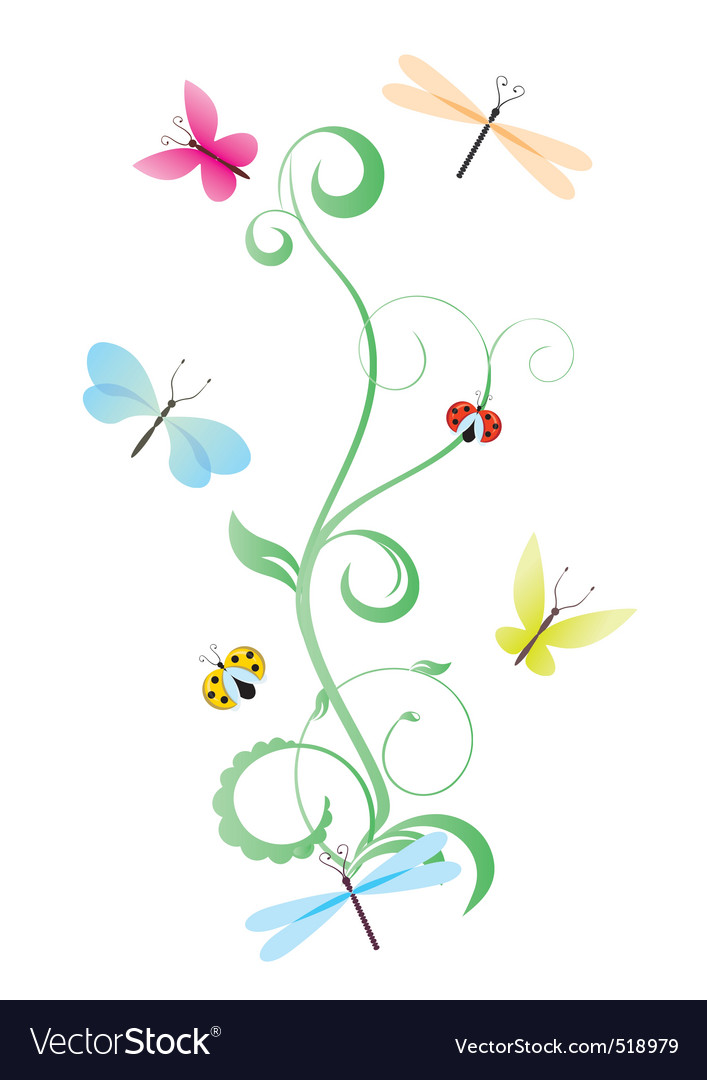 Green curves with butterflies