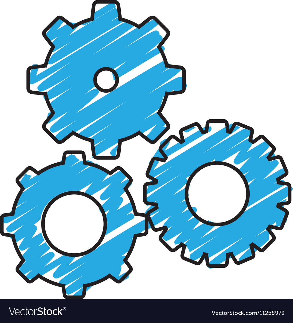 Simple gears icon image Royalty Free Vector Image