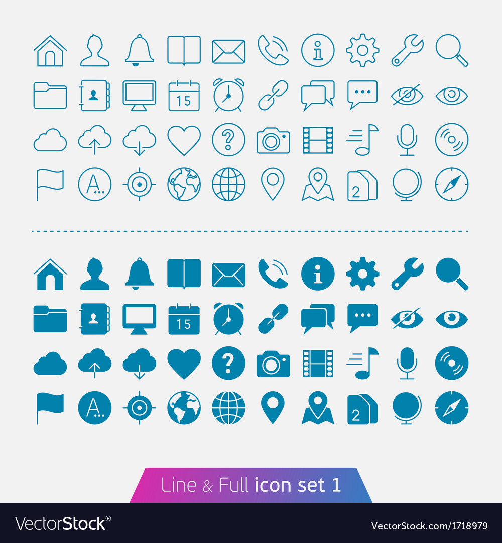 Universal Basic set 1 vector image