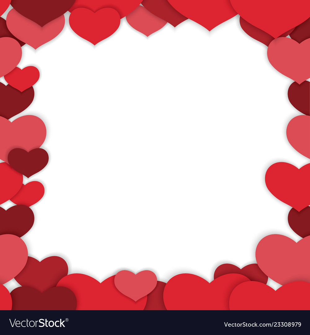 Valentines Day Seamless Frame Royalty Free Vector Image