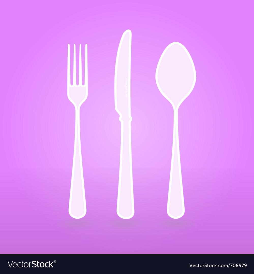 Violet cutlery set