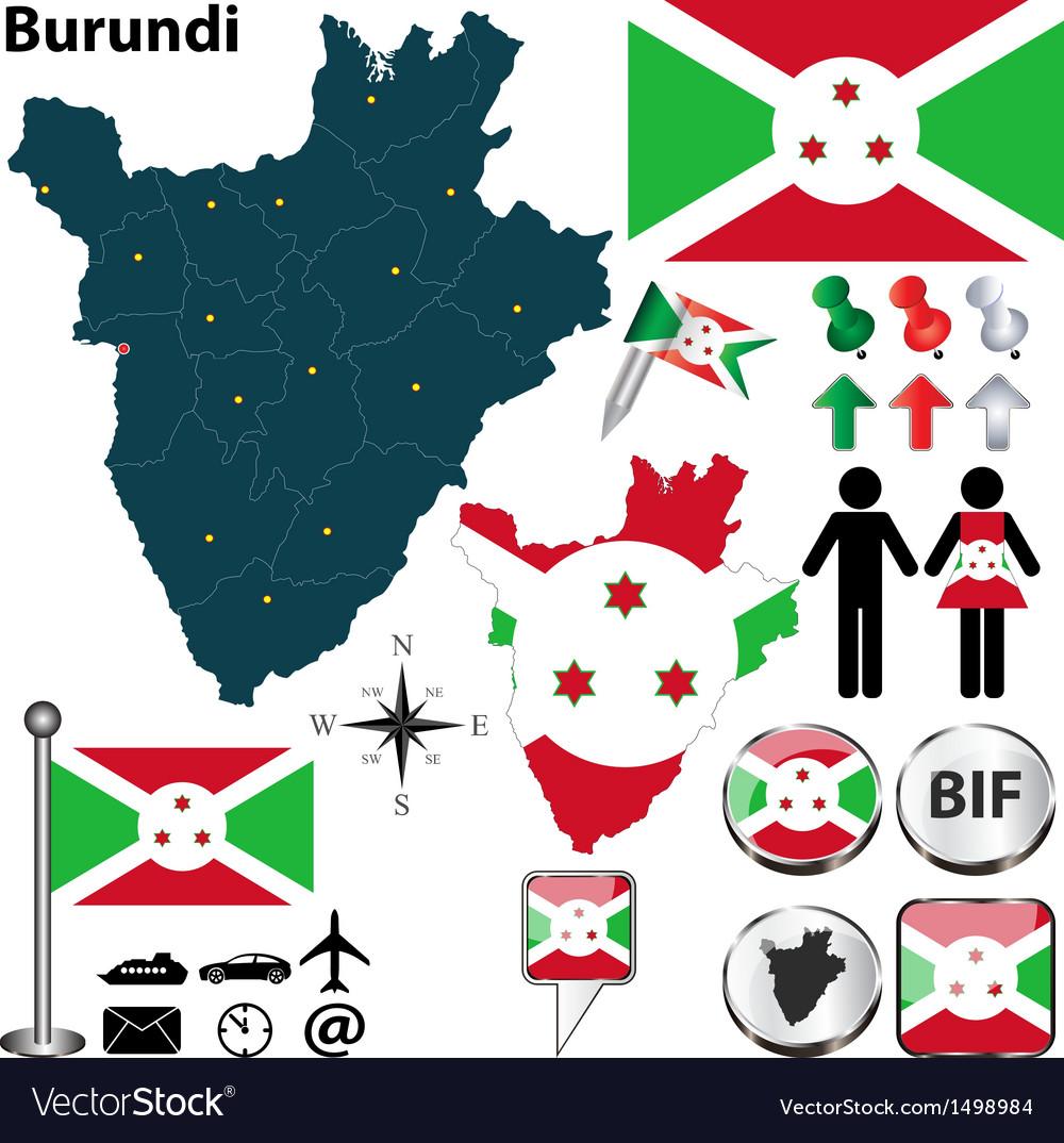 Burundi map vector image