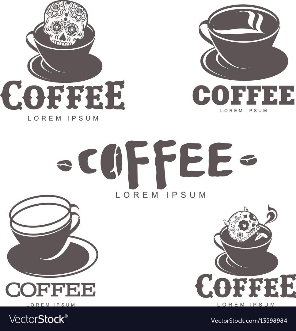 Coffee logo templates vector image