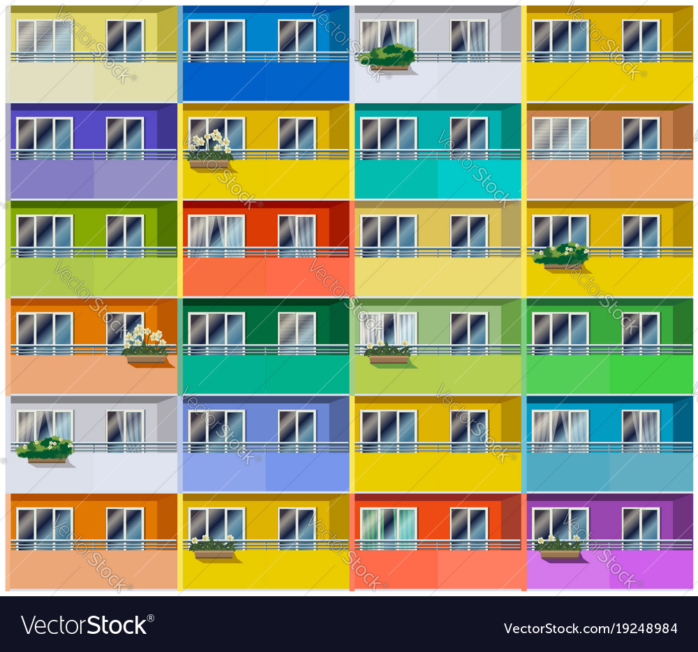 Colored apartments house vector image