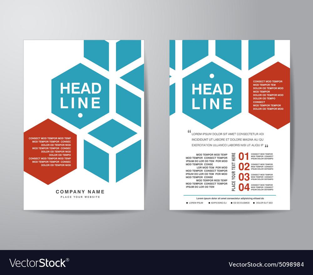 hexagonal brochure flyer design layout template in