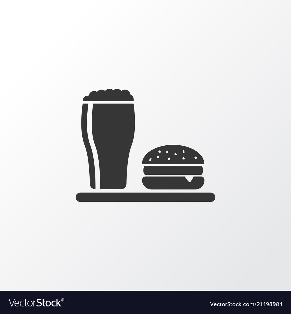 Lunch icon symbol premium quality isolated beer