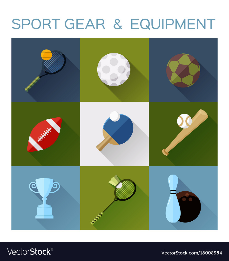 Sport gear flat icon converted