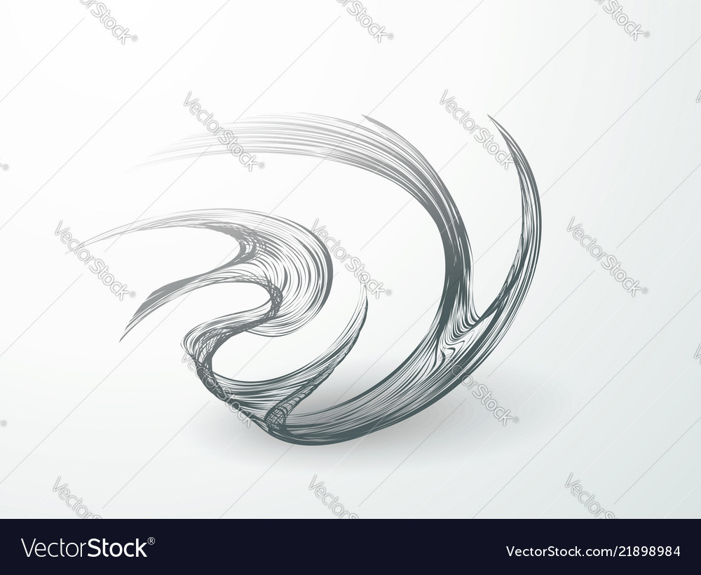 Wavy lines on white background swirling in a fast