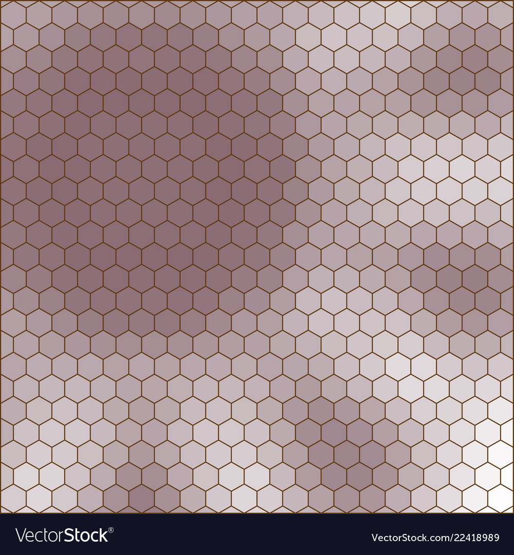 Abstract hexagon grid shape of a flower