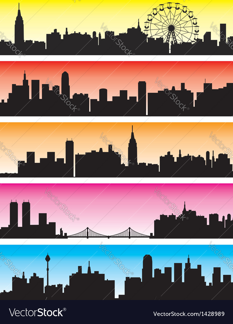 City backgrounds vector image