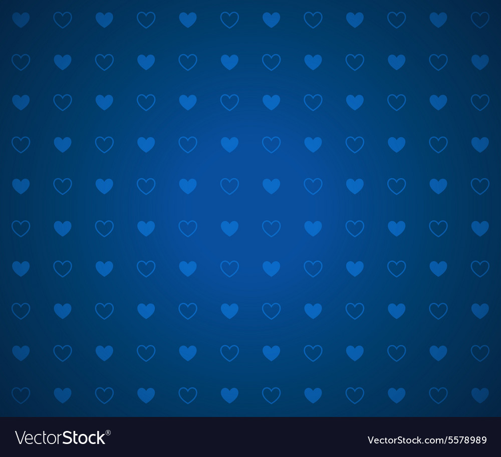 Clean Abstract Poker Background Blue Hearts vector image