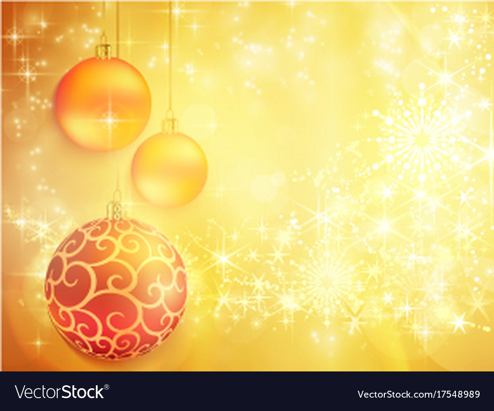 Golden christmas design with red and golden