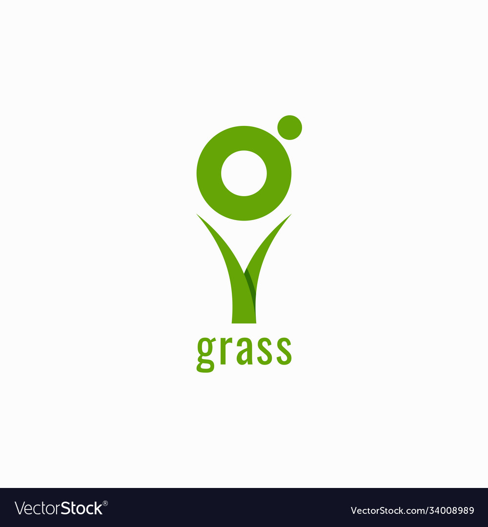 Grass logo with letter g on white background