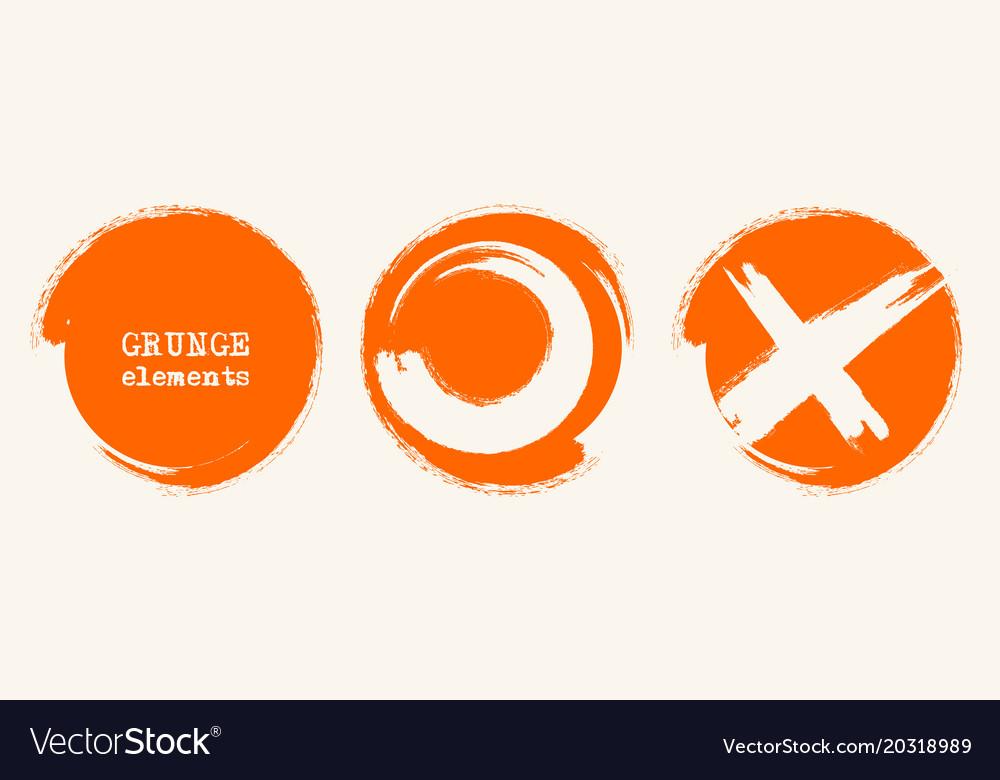 Grunge circle shapes abstract