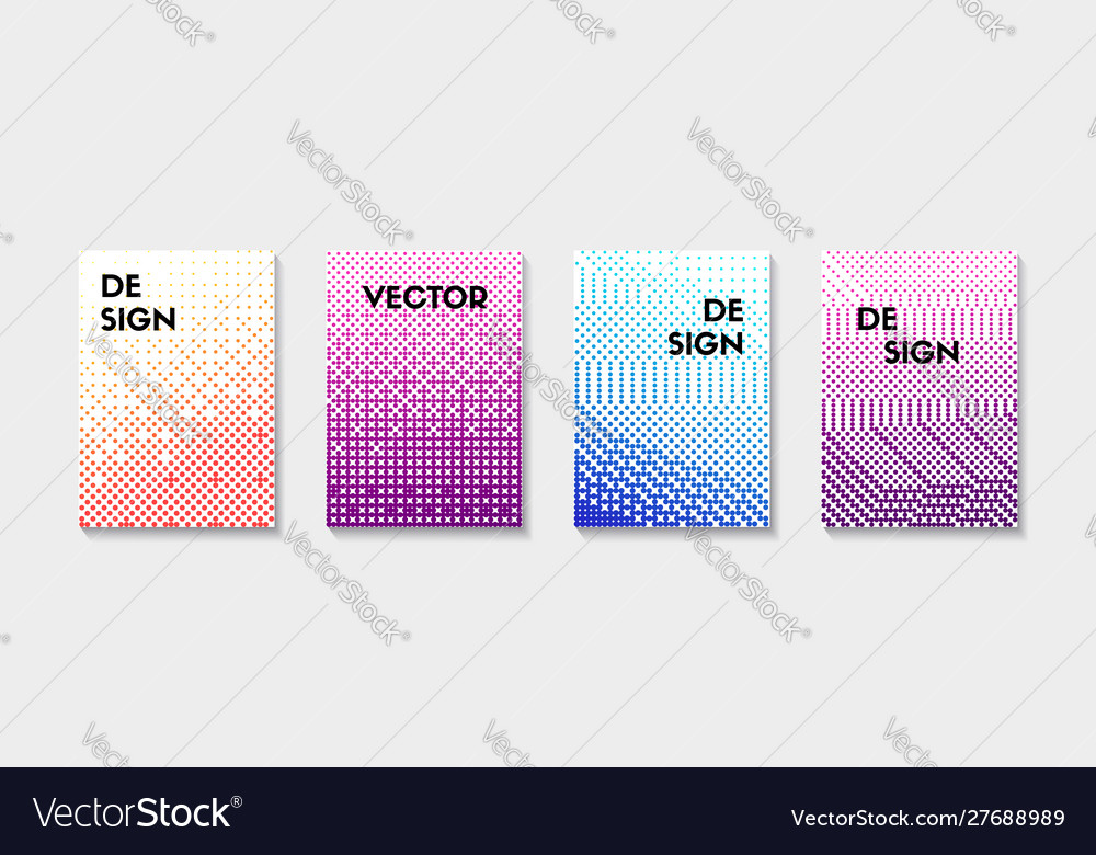 Halftone backgrounds set color dotted