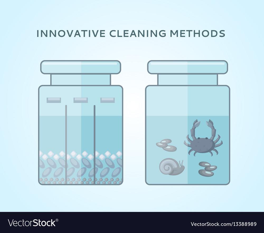 Liquid biological cleaning methods concept