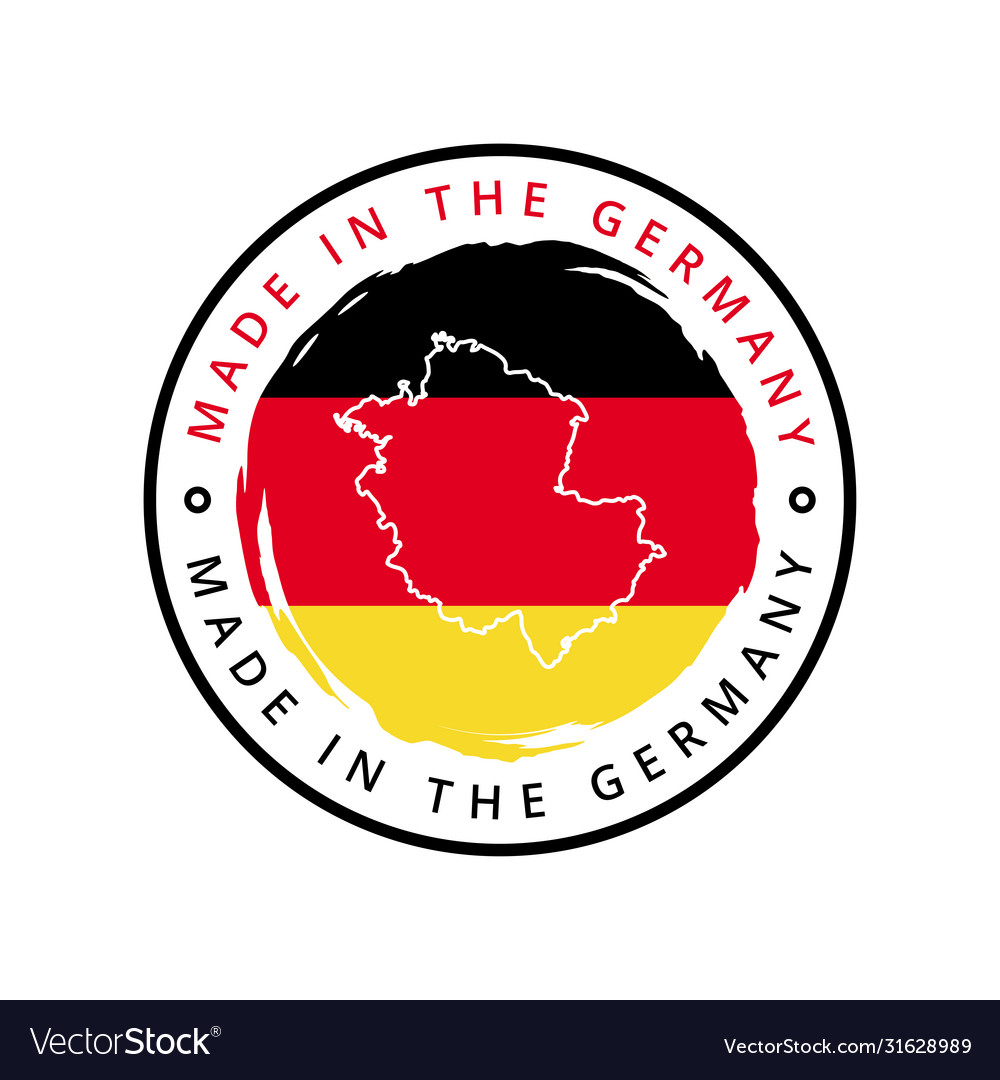 Made in germany round label