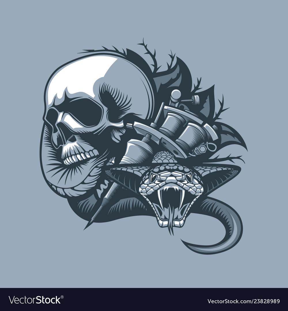 Scene from the skull comes a dangerous viper