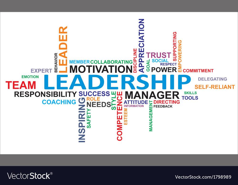 Word Cloud Leadership Royalty Free Vector Image