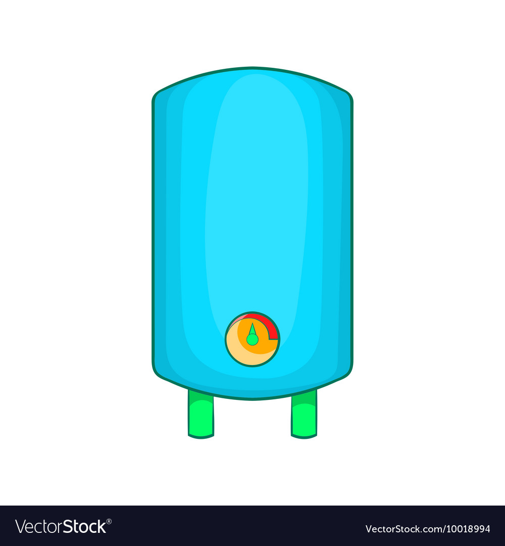 Boiler water heater icon cartoon style Royalty Free Vector